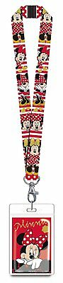 Disney Minnie Mouse Red Lanyard Novelty with Card - Minnie Mouse Lanyard