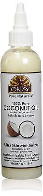 [OKAY] 100% PURE COCONUT OIL FOR HAIR AND SKIN 4OZ ULTRA (Pure Coconut Oil For Hair And Skin)