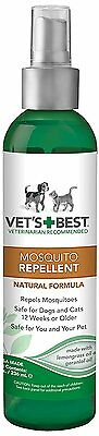 Vet's Best Natural Mosquito Repellent Spray for Dogs and Cats, 8 oz New
