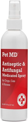Pet MD - Antiseptic and Antifungal Medicated Spray for Dogs, Cats and Horses ...