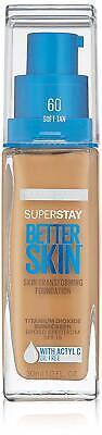 NEW Maybelline Super Stay Better Skin Transforming Liquid Foundation-Soft Tan
