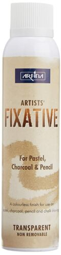 Camel Artists 200mlFixative Spray(Colorless Finish For Pastel,Charcoal & Pencil)