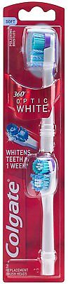Colgate 360 Optic White Battery Toothbrush Replacement Head - 2