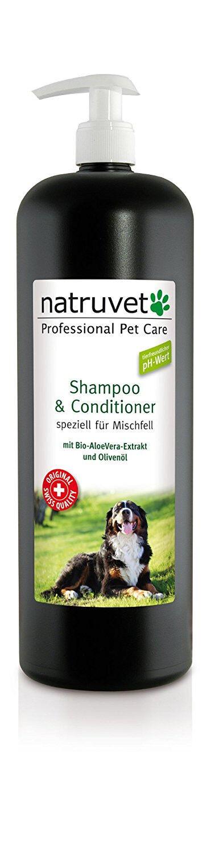 Natruvet Hundeshampoo & Conditioner für Misch-Fell 1000ml