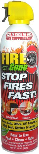 Max Professional Fire Gone White/Red Fire Suppressant Canisters - 16 oz (1 Can)