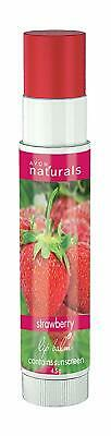 100 % Real Avon Naturals Lip Balms Strawberry Free Shipping