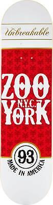 "Zoo York Skateboard Deck - Red Label - 8"""