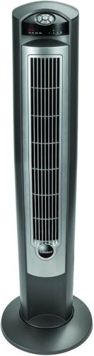"""Lasko Portable Electric 42"""" Oscillating Tower Fan with Nighttime Setting, Timer"""
