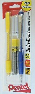 Pentel Twist Erase Click Mechanical Pencil Side Click 0.9mm Wclic Eraser Yellow