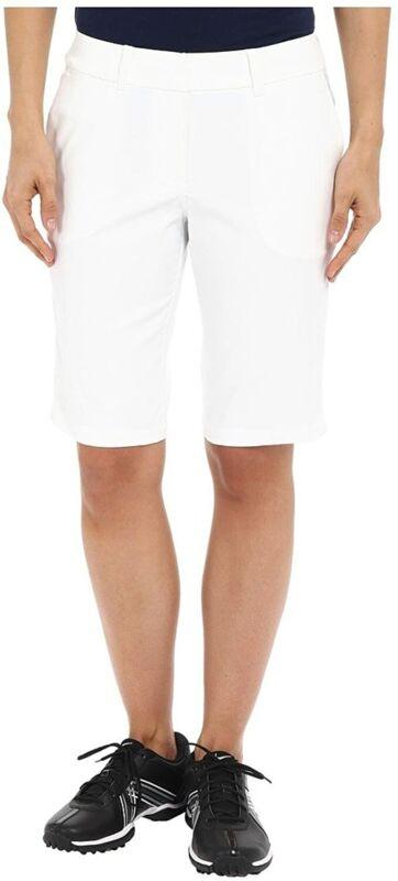 Nike Women's Tournament Bermuda Golf Shorts NWT White Sz 18