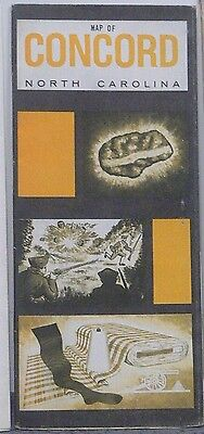 1972 Promotional Brochure/Street Map of Concord North Carolina