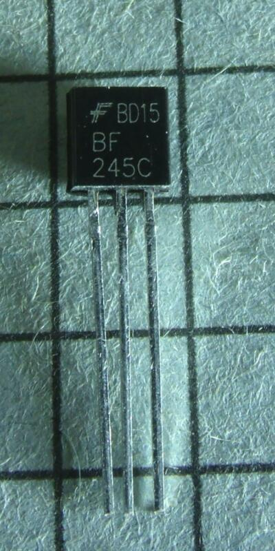 BF245C N-Channel JFET TO92 : 5pcs per Lot