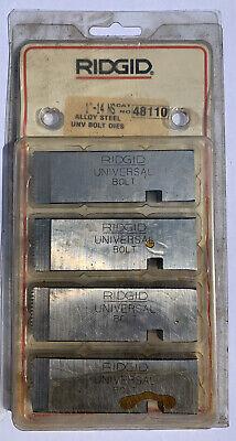 1 -14 Ns Ridgid 48110 Alloy Steel Unv Bolt Dies Made In Usa