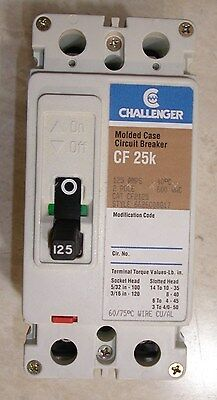 New Challenger Cf2125 Cf2125l Circuit Breaker Switch 125 Amp 2 Pole 600 Volt