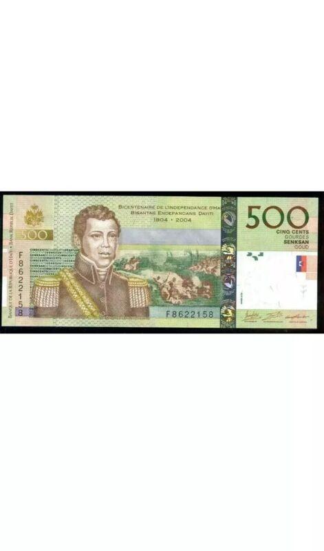 HAITI 500 GOURDES Banknote, Good Condition, Single Banknote, Haiti 500 Bill. Cir