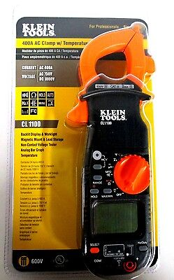 Klein Tools 400a Ac Clamp Wtemperature Non Contact Voltage Tester Cl1100