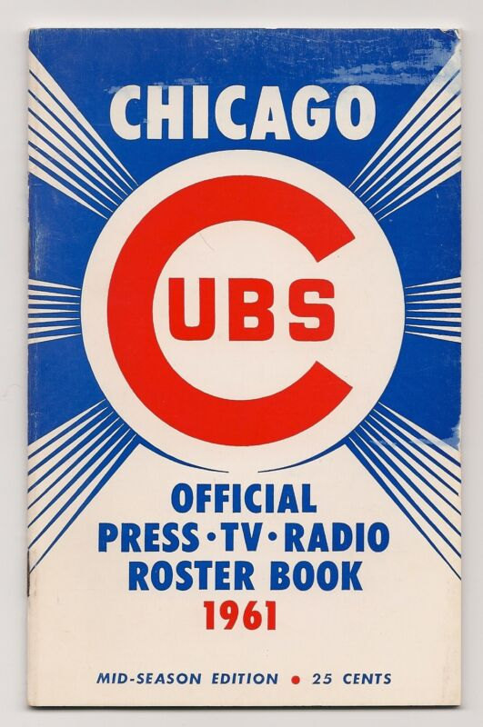 1961 Chicago Cubs Media Guide Mid-Season Edition NICE!!