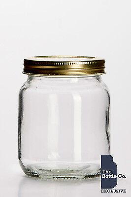 X 72 1lb HONEY JARS SCREW NECK TRADITIONAL C/W LIDS JAM  JARS AVAILABLE