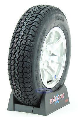 Kenda LoadStar Trailer Tire ST175/80D/13 Aluminum Wheel 5 Lug 13 Inch 7 covid 19 (Spoke Aluminum Trailer Tire coronavirus)