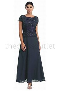*Classic Plus Size Mother of the Bride Groom Elegant Wedding Formal Gown Dress*