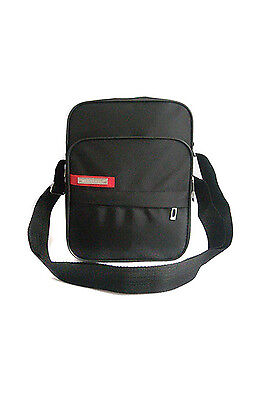 Black Messenger Shoulder Bag (Black Men's Shoulder bag Messenger Bag AD )