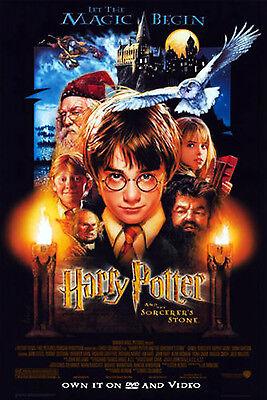 HARRY POTTER AND THE SORCERER'S STONE (2001) ORIGINAL DVD MOVIE POSTER -  ROLLED comprar usado  Enviando para Brazil