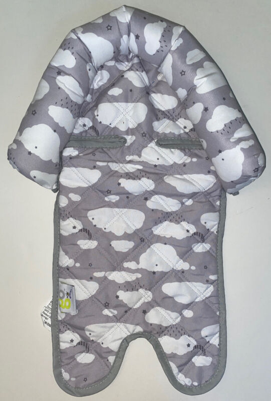 Go By Goldbug Grey Clouds Outer Head Support For Carseat