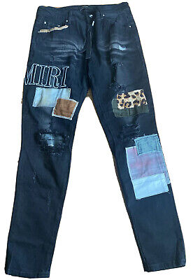 Amiri Jeans Wth Patch Letter Size 34 New