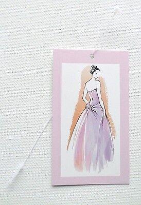 100 Garment Tags Boutique Tags Fashion Girl Hang Tags 100 Self-locking Ties