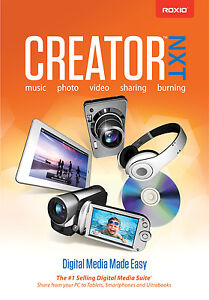 NEW ROXIO CREATOR NXT 2013 STANDARD DVD FULL VERSION