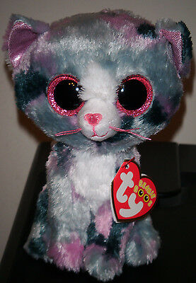 Ty Beanie Boos   Lindi The 6  Cat   Stuffed Plush Toy  2016    New With Mint Tag