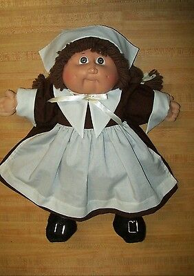 PILGRIM GIRL OUTFIT only--DRESS APRON CAP SHOES for 16