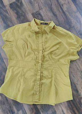 The Limited Essentials TRENDY light green blouse Sz XL
