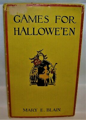 VINTAGE 1930's GAMES FOR HALLOWE'EN Book HALLOWEEN Riddles, Fortune Telling