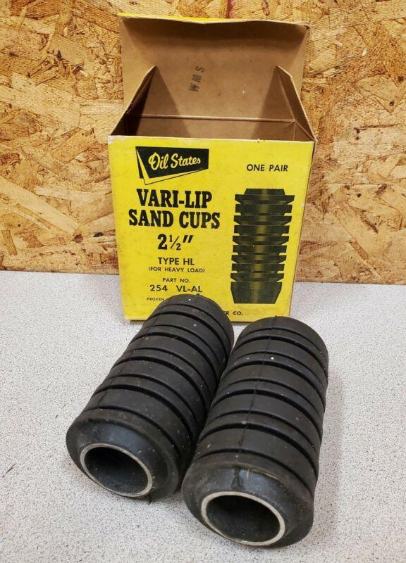 """Vintage Oil States Vari-Lip Sand Cup Swabs,2 1/2"""" HL,NOS Oil Drilling Part"""