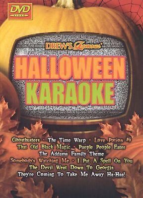 NEW Drews Famous Halloween Karaoke (DVD, 2003) drew's famous Sing Alongs](Halloween Famous Movies)