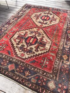 Designer Vintage French Persian Style Tribal Rug
