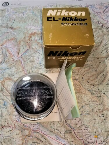 Pristine NIKON EL Enlarger Lens with Bubble- Likely Unused