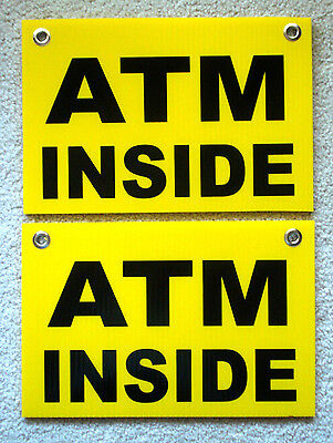2 Atm Inside 8 X 12 Plastic Coroplast Signs With Grommets