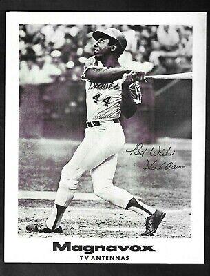 "1974 Atlanta Braves ""Hank Aaron"" Magnavox TV Antennas Promotional Photo"