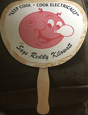 Vintage Reddy Kilowatt Cardboard Fan