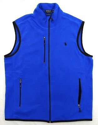 Slim Zip Fleece (Polo Ralph Lauren Pony Performance Fleece Zip Down Sport Slim Vest Jacket S M)