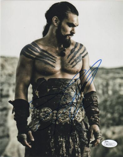 Jason Momoa Game of Thrones Autographed Signed 8x10 Photo JSA COA #1