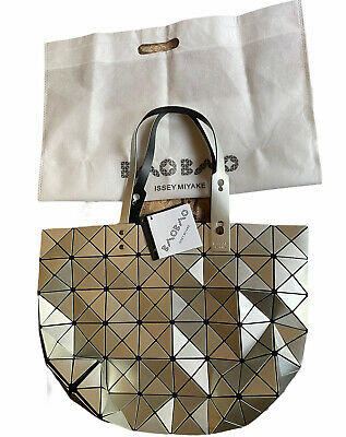 Issey Miyake Bao Bao Geometric Silver Handbag Purse Tote Bag NWT Bag included