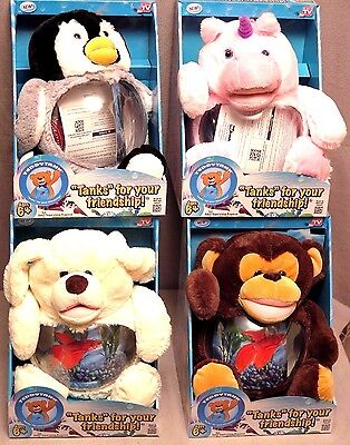 Teddy Tank Betta Fish Bowl Penguin/Dog/Monkey/Unicorn Aquarium As Seen On TV