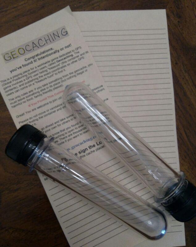 geocache tubes preforms with write in rain logs standard soda bottle cap