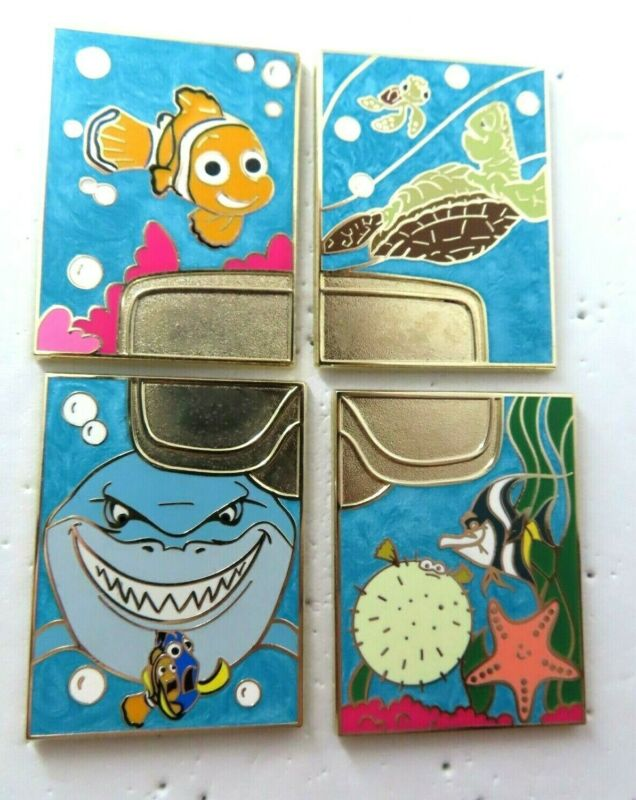 Disney Pin Pixar Mystery Finding Nemo Chasers 4 Pin Set LE 200 #95077-95080