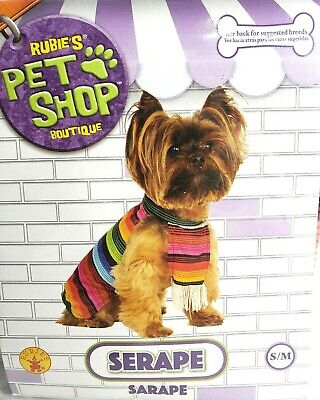 SERAPE Dog Rubies Pet Shop Boutique S/M Pet Dress up Costume Brand new