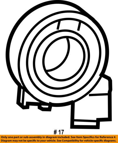 Vw Volkswagen Oem Jetta Airbag Air Bag Clockspring Clock Spring