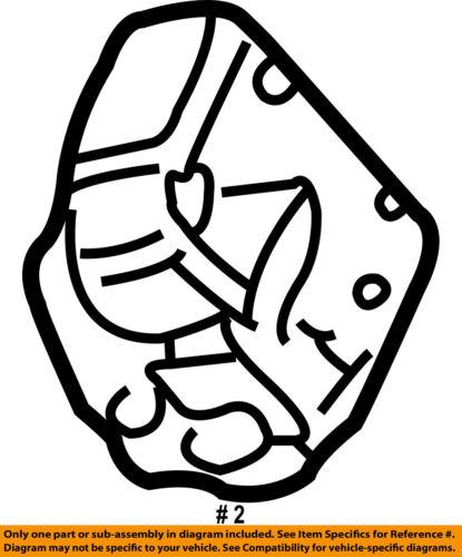 Chrysler Oem Rear Door Lock Or Actuator Latch Release 5008624ac